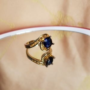 Jewelry - Gold plated 925 simulated saphire ring